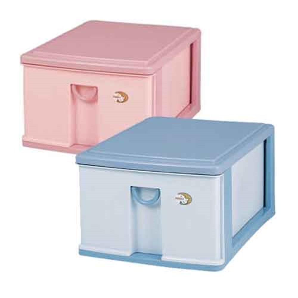 【DOLEDO】新生活置物櫃二入(附小時尚收納盒一入)