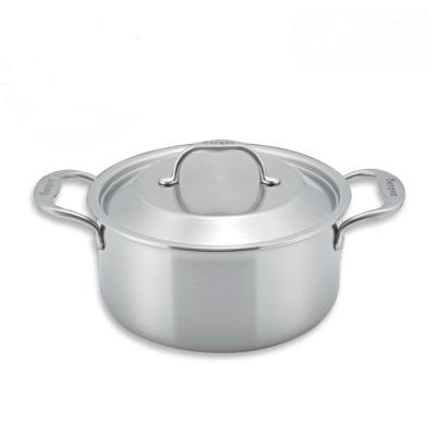 Bergen韓國五層複合金 不鏽鋼雙柄湯鍋24cm