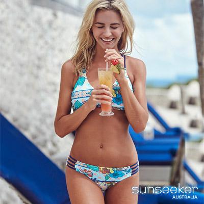 澳洲Sunseeker泳裝幾何花朵兩件式比基尼