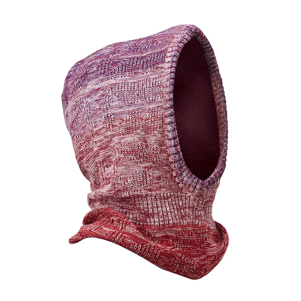 【ATUNAS 歐都納】針織保暖連帽圍巾圍脖毛帽 A-A1745 麻花紫