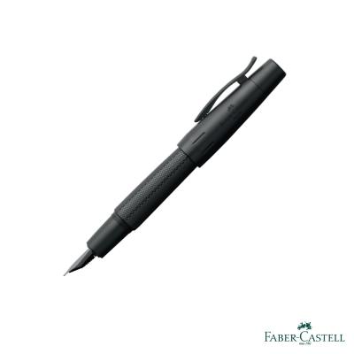 Faber-Castell E-MOTION 天然樹脂雕紋系列-菱格紋鋼筆-黑金剛