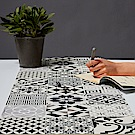以色列穆妮薩-桌墊(長)-黑白印畫