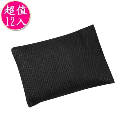 源之氣 竹炭櫥櫃脫臭包 (12入/組)黑色 RM-9455