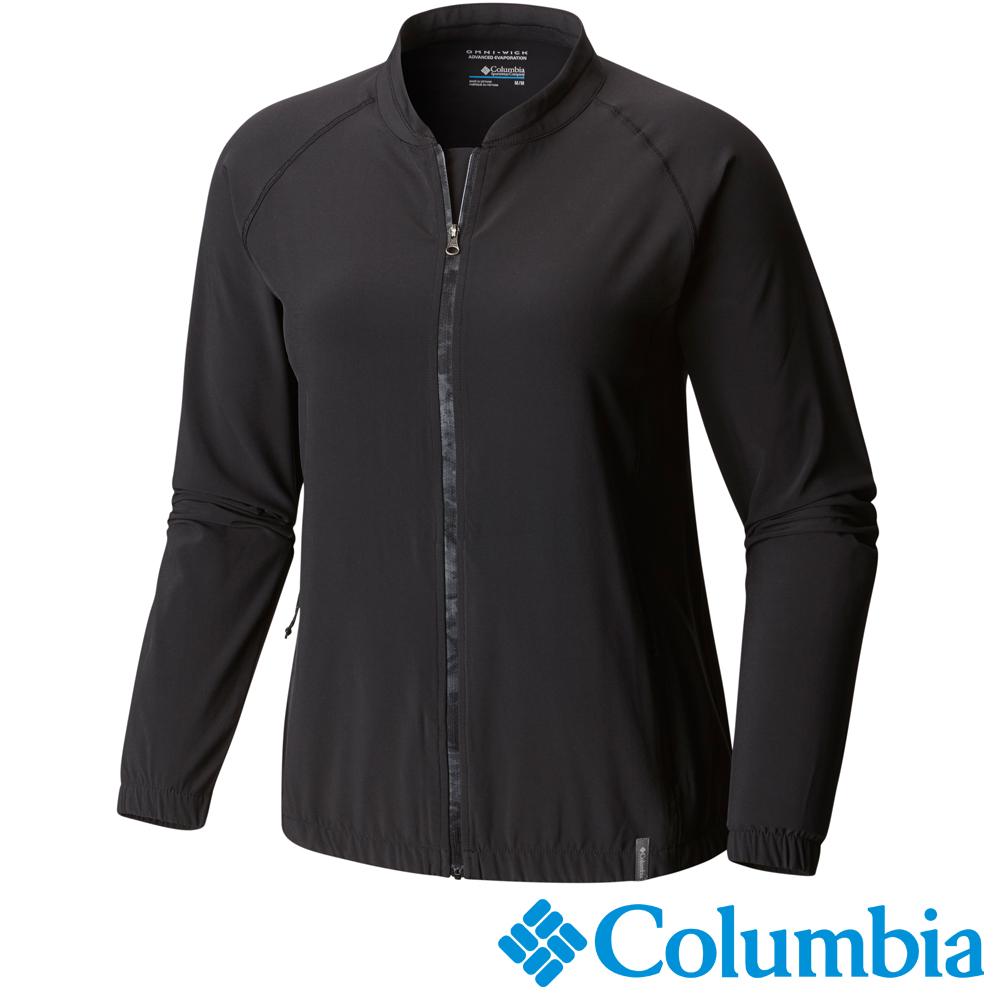 【Columbia哥倫比亞】女-防曬40快排瑜珈短外套-黑 UAK19440BK