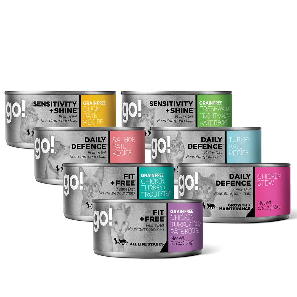 Go! 天然主食貓罐-七口味-12件組