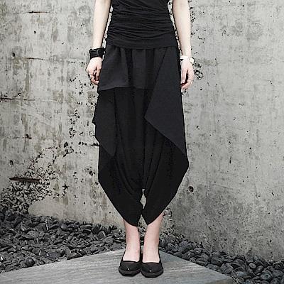 夏季設計師款荷葉邊垂感雪紡褲裙-設計所在