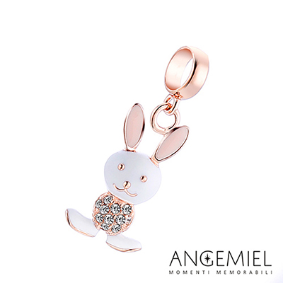Angemiel安婕米串珠 925純銀吊飾 Dream童話系列 童話小兔