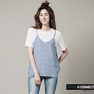 H:CONNECT 韓國品牌 女裝 - 格紋小花細肩背心-藍(快)
