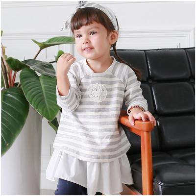baby童衣 大小童洋裝 長袖色織條紋假兩件上衣裙50458