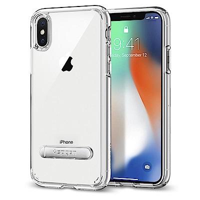 Spigen iPhone X Ultra Hybrid S 超薄型雙料立架防震...