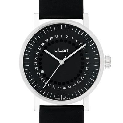 a.b.art OA系列 日期圓盤跳點機械腕錶-黑/40.5mm