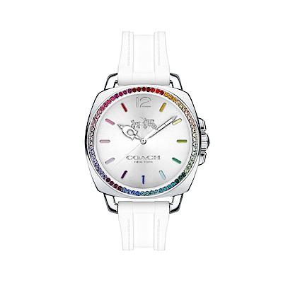 COACH 耀眼迷人時尚膠帶腕錶/14502528