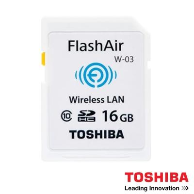 TOSHIBA 16G FlashAir W-03 WI-FI SDHC 無線傳輸 記憶卡