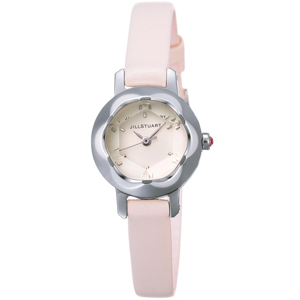 JILL STUART Ring LB系列名媛氣質皮帶錶款-白x粉色錶帶/21mm