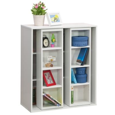 【尼普頓】雙排活動書櫃-矮櫃(白色)