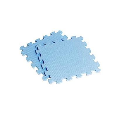 新生活家 EVA素面巧拼地墊32x32x1cm-淺藍色(40入)