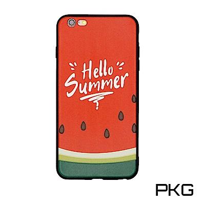 PKG Apple IPhone7/8 (4.7吋) 彩繪保護殼-浮雕彩繪-清新...