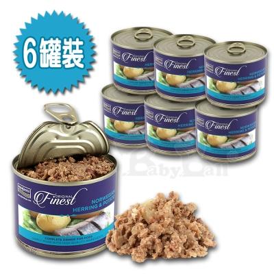 【海洋之星FISH4DOGS】挪威鯡魚馬鈴薯主食犬罐185g、六罐裝