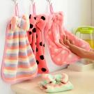 DF可愛蝴蝶結珊瑚絨擦手巾毛巾2入(隨機出貨)