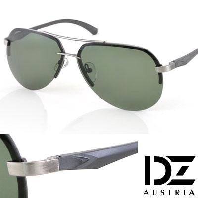 【2件59折】DZ 歐紳型潮 抗UV 偏光太陽眼鏡墨鏡(墨綠)