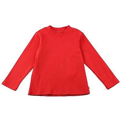 愛的世界 SUPERMINI 彈性羅紋長袖套頭衫-紅色/6~8歲