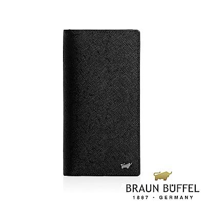 BRAUN BUFFEL - 洛非諾III系列窗格長夾 - 經典黑
