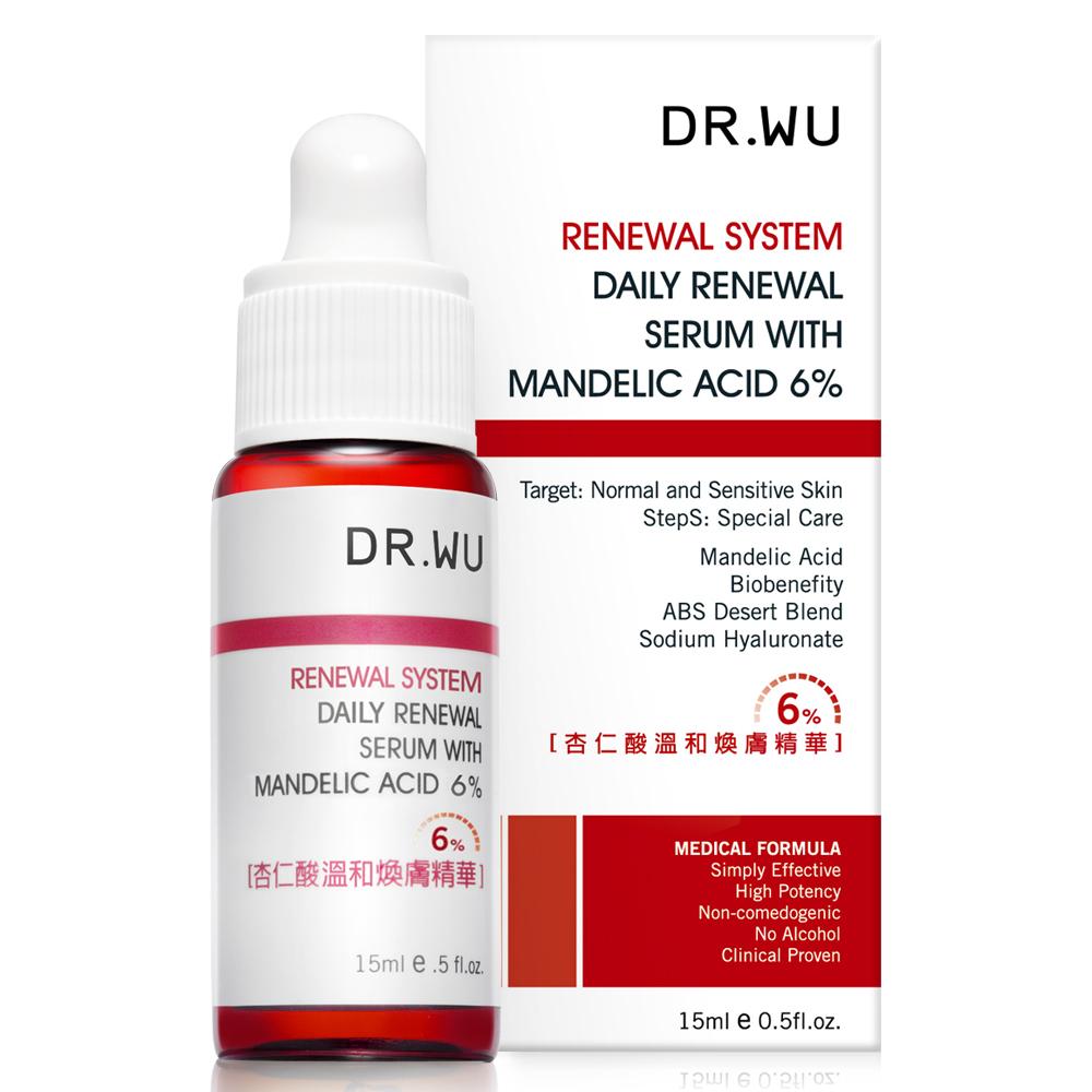 DR.WU 杏仁酸溫和煥膚精華6%15ml