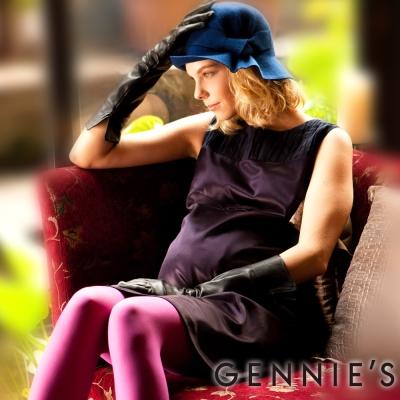 Gennies奇妮-Faravani系列高貴緞面光澤秋冬背心洋裝 (C2214 )-紫