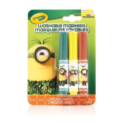 美國crayola 小小兵可水洗粗頭彩色筆3色-史前時代(3Y+)