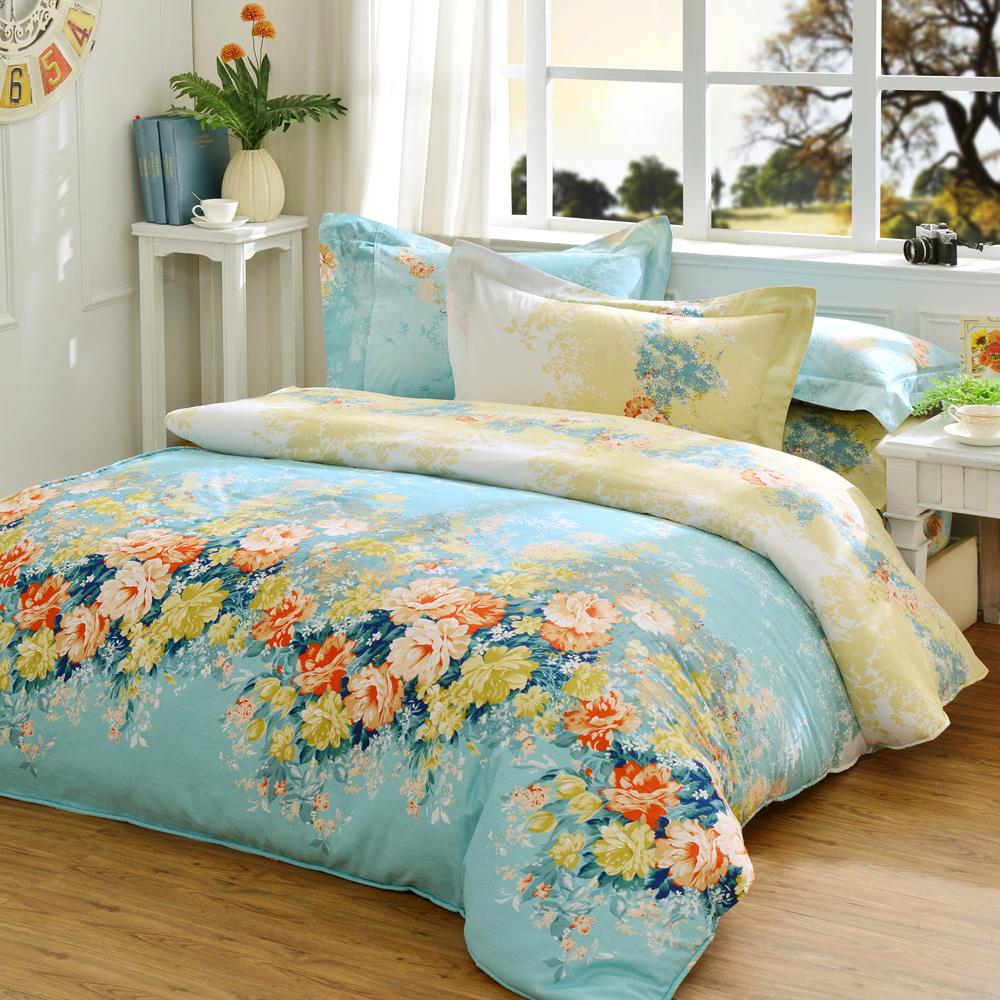 義大利La Belle 愛麗絲仙境 加大純棉床包枕套組