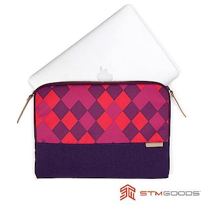 澳洲 STM Grace Sleeve 13吋時尚菱格紋筆電袋 - 紫