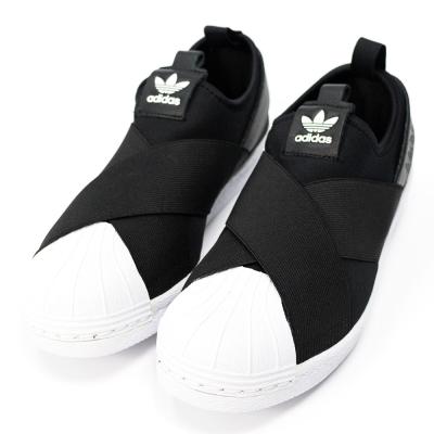 ADIDAS-SLIPON女休閒鞋-黑
