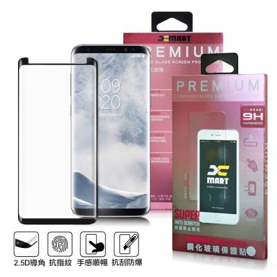XM Samsung Galaxy S8+ 內縮超透滿版 3D 鋼化玻璃貼-黑色