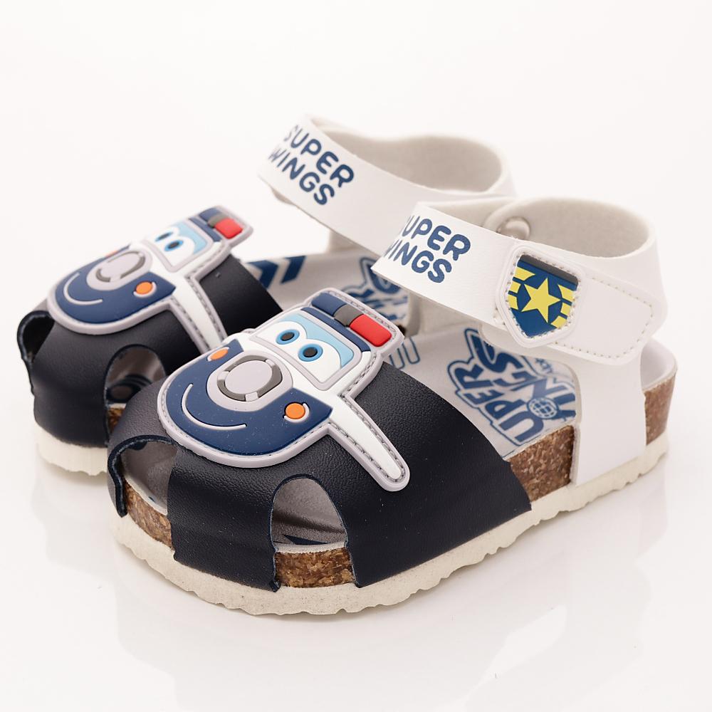 SUPER WINGS 護趾涼鞋款 EI3807 白 (中小童段)