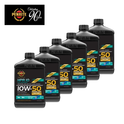 PENRITE 澳洲HPR OIL 高性能加護版10W-50汽柴油通用機油 1L-6瓶裝