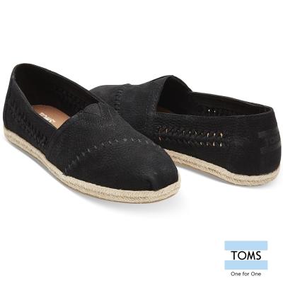 TOMS 皮革編織懶人鞋-女款