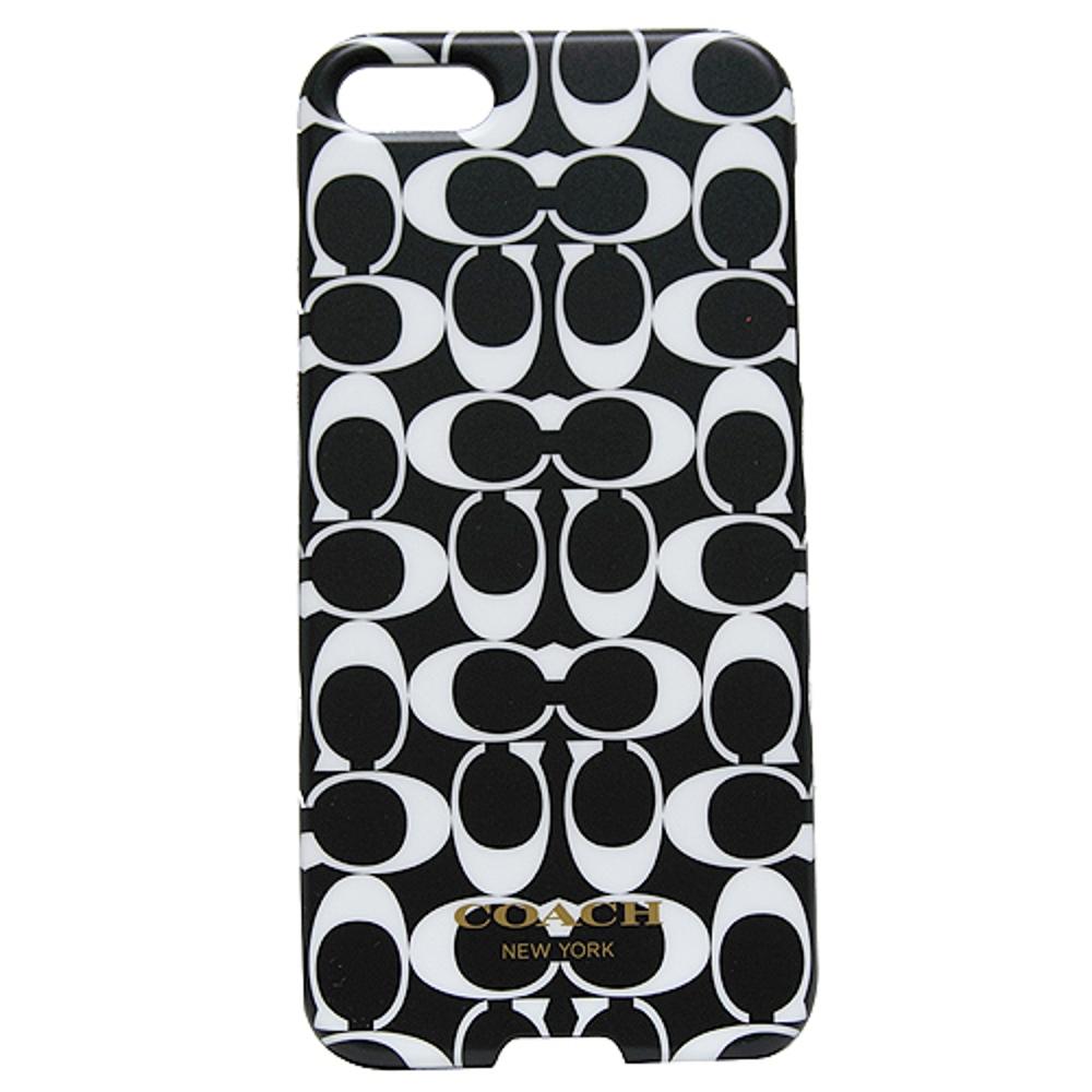COACH C LOGO i phone5手機保護殼-黑白(附原廠盒裝) @ Yahoo 購物