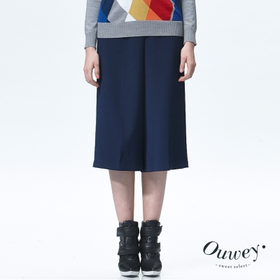 OUWEY歐薇-後鬆緊口袋九分寬褲-共3色