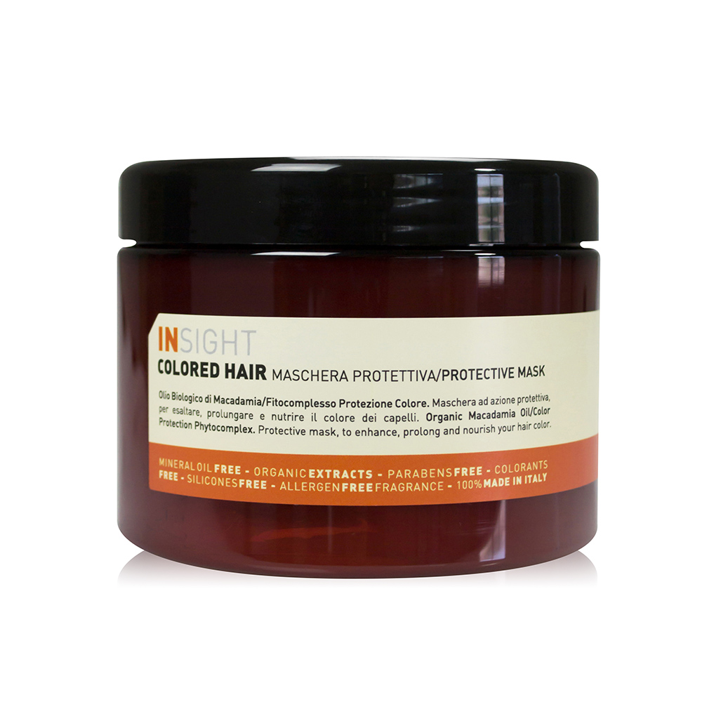 INSIGHT義大利有機髮妍 堅果油護色髮膜 500ml