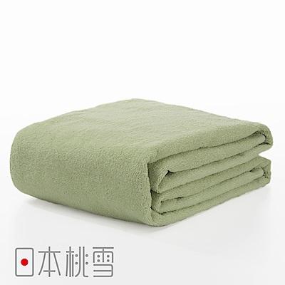 日本桃雪飯店超大浴巾(茶綠色)