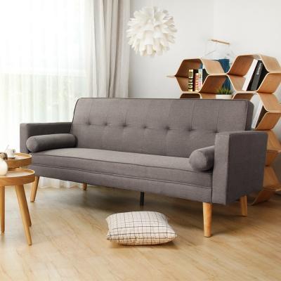 H&D 法蘭和風簡約日式沙發床-灰色