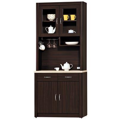 時尚屋 艾力森胡桃色2.7尺餐櫃組
