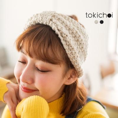 東京著衣 秋冬甜美蝴蝶結針織髮帶(共二色)