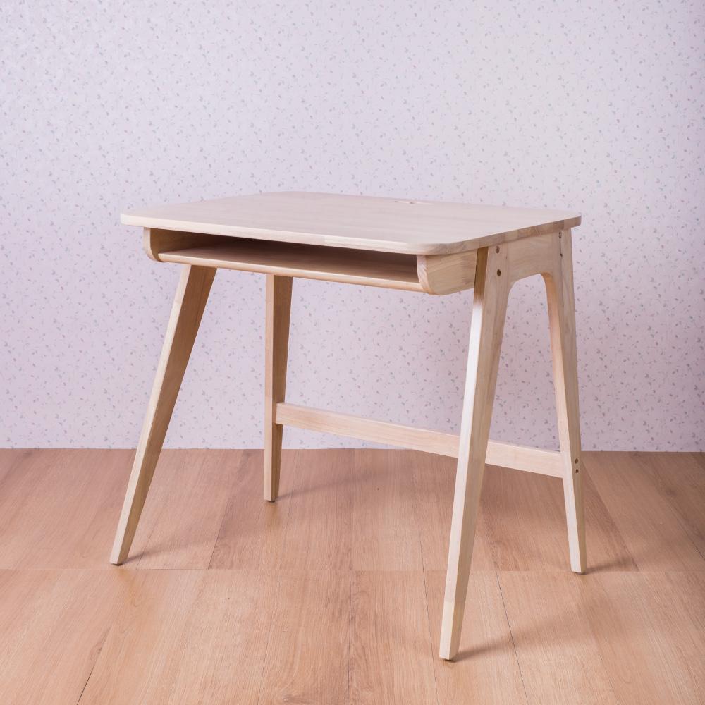 簡約風 俄西里洗白色電腦桌-80x60x77cm