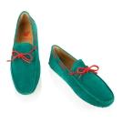 Bobbies 男士撞色鞋帶豆豆鞋-綠/橘