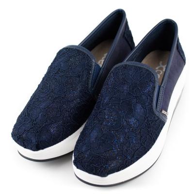 XCESS 女增高鞋 GW046NVY 蕾絲藍