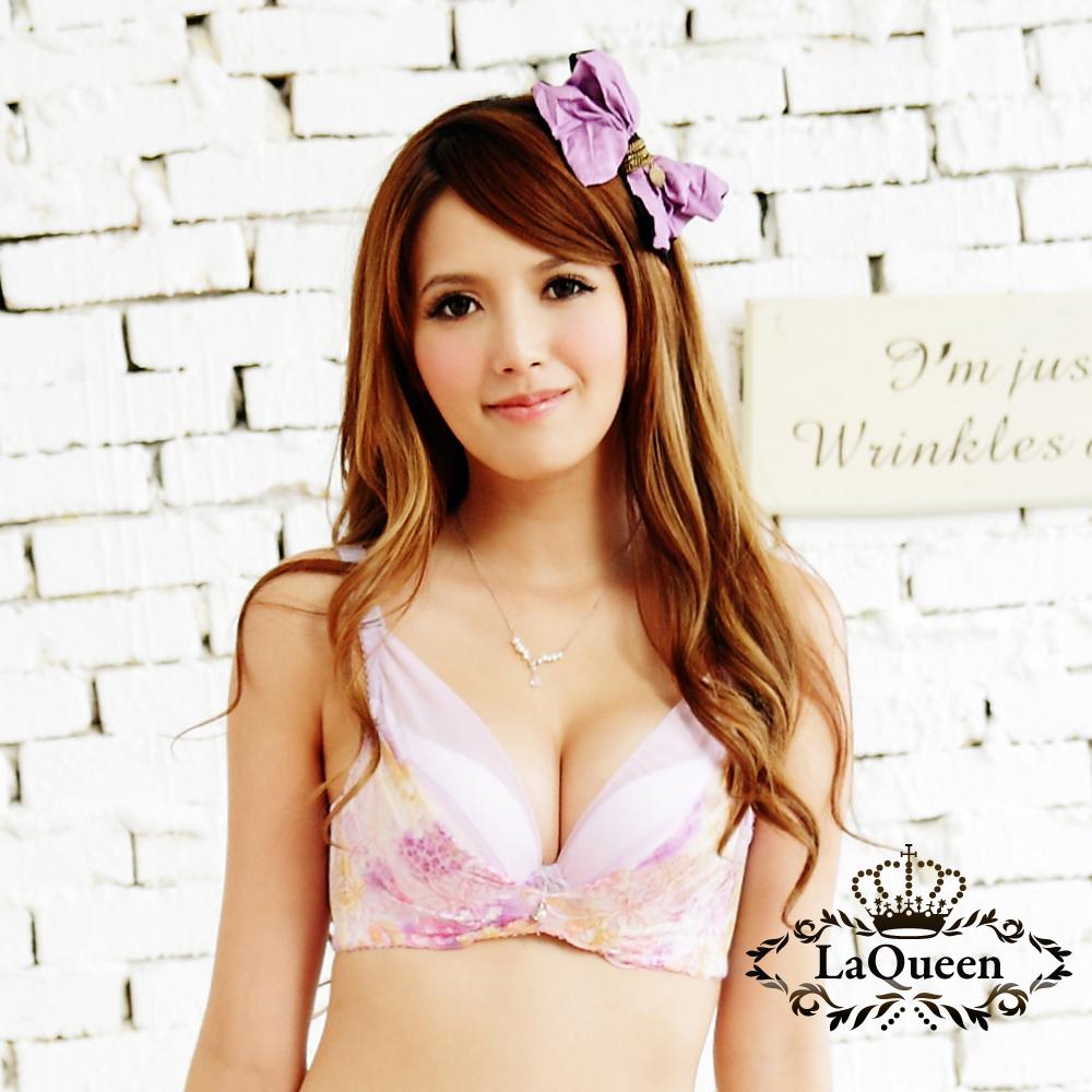 內衣   印花渲染成套內衣-紫 La Queen