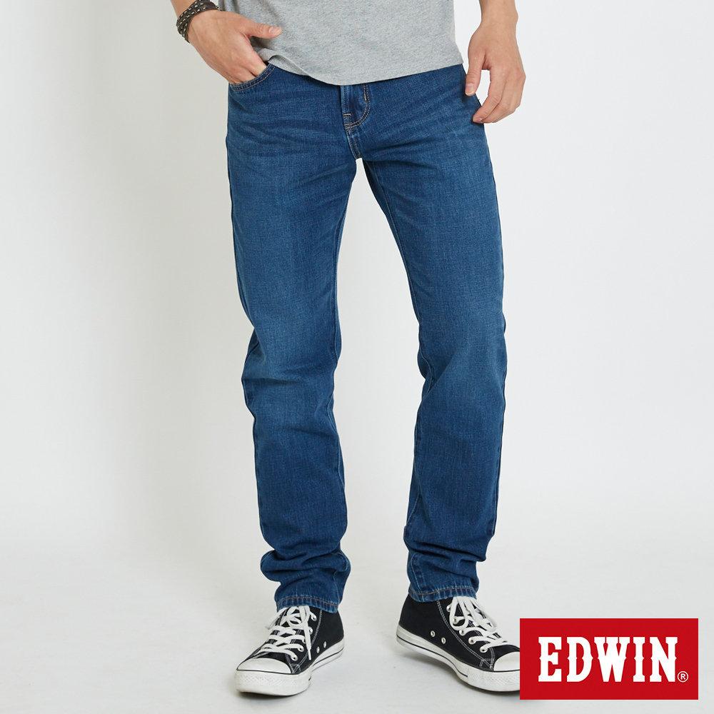 EDWIN 503復古水洗AB褲-男-石洗藍