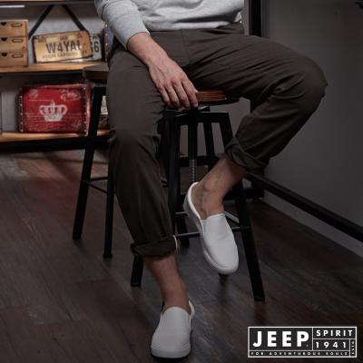 JEEP 時尚型男休閒褲 -橄欖綠