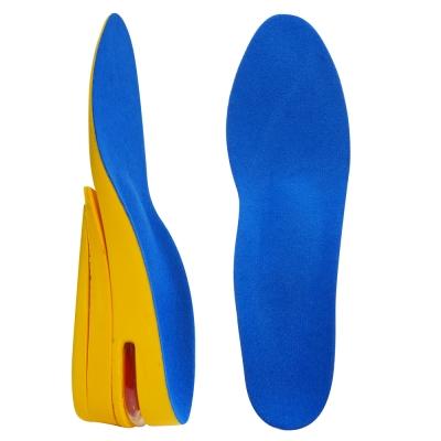 足的美形 足弓加厚三層增高鞋墊 藍(2雙)